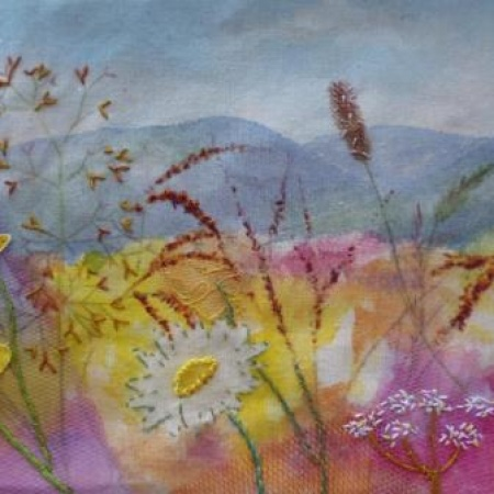Magnificent meadows textile workshop; Friday 12th July 2019