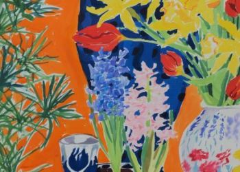 Still life with hyacinths, Sarah Colgate ©