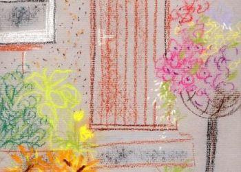 Flowers by garage, Sarah Colgate ©