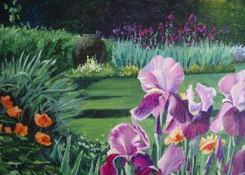 Iris, acrylic, Sarah Colgate ©