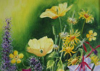Welsh Poppy, acrylic, Sarah Colgate ©